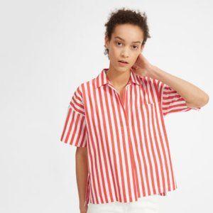 Everlane Cotton Short-Sleeve Popover Shirt